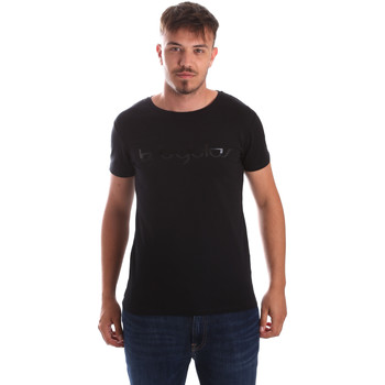 textil Herr T-shirts Byblos Blu 2MT0023 TE0048 Svart