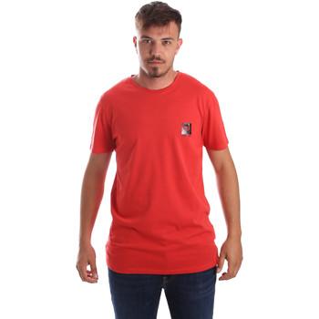 textil Herr T-shirts Byblos Blu 2MT0010 TE0045 Röd