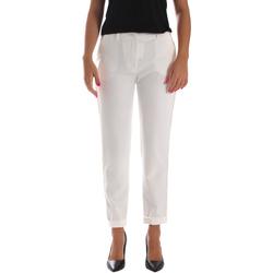 textil Dam Chinos / Carrot jeans Fracomina FR19SP684 Vit