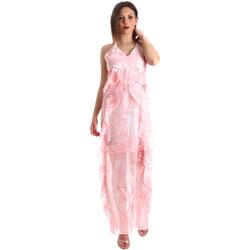 textil Dam Långklänningar Fracomina FR19SP429 Rosa