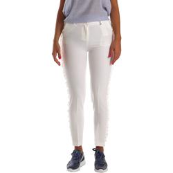 textil Dam Chinos / Carrot jeans Fracomina FR19SP666 Vit
