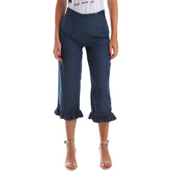 textil Dam Jeans 3/4 & 7/8 Fracomina FR19SM502 Blå