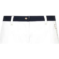 textil Dam Shorts / Bermudas Ea7 Emporio Armani 3GTS02 TN29Z Vit