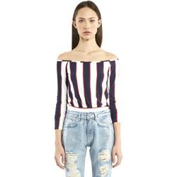 textil Dam Långärmade T-shirts Denny Rose 911DD60016 Blå