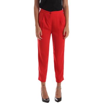 textil Dam Chinos / Carrot jeans Byblos Blu 2WP0002 TE0012 Röd