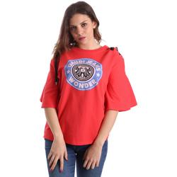 textil Dam T-shirts Gaudi 911BD64037 Röd