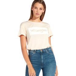 textil Dam T-shirts Wrangler W7016D Orange