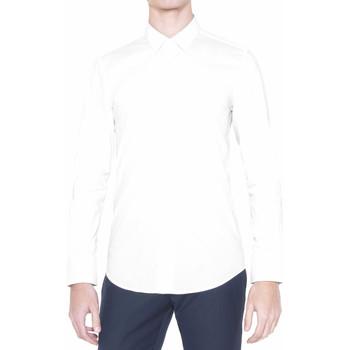 textil Herr Långärmade skjortor Antony Morato MMSL00375 FA450001 Vit