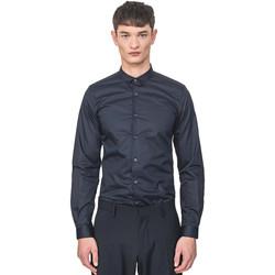 textil Herr Långärmade skjortor Antony Morato MMSL00596 FA400072 Blå