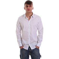 textil Herr Långärmade skjortor Gaudi 921FU45014 Vit