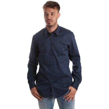textil Herr Långärmade skjortor Gaudi 921FU45014 Blå