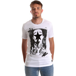 textil Herr T-shirts Gaudi 921FU64002 Vit