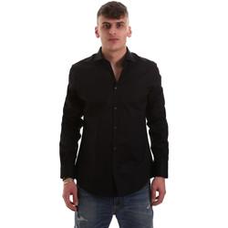 textil Herr Långärmade skjortor Gaudi 921BU45001 Svart