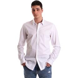 textil Herr Långärmade skjortor Gaudi 921BU45001 Vit