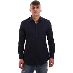 textil Herr Långärmade skjortor Gaudi 921BU45001 Blå