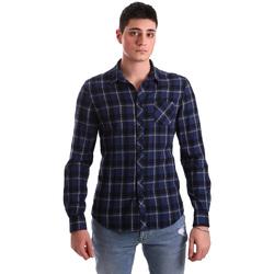 textil Herr Långärmade skjortor Gaudi 921BU45006 Blå