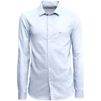 textil Herr Långärmade skjortor NeroGiardini A973180U Blå