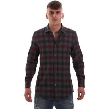 textil Herr Långärmade skjortor Antony Morato MMSL00548 FA410091 Grå
