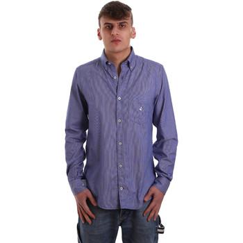 textil Herr Långärmade skjortor Navigare NV91068 BD Blå