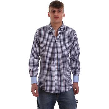 textil Herr Långärmade skjortor Navigare NV91072 BD Blå