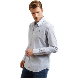 textil Herr Långärmade skjortor La Martina OMC016 PP462 Blå