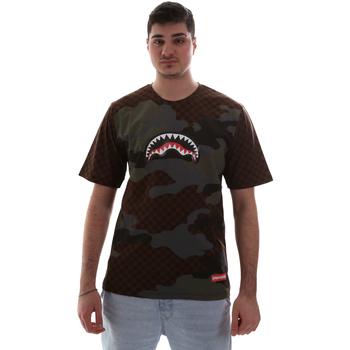 textil Herr T-shirts Sprayground SP018SBRO Brun