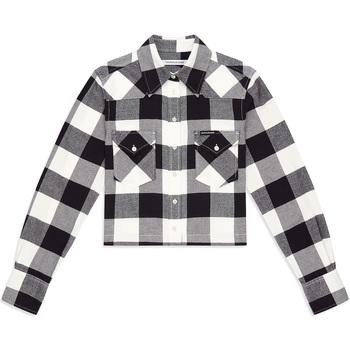 textil Dam Skjortor / Blusar Calvin Klein Jeans J20J212123 Svart