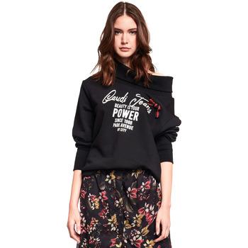 textil Dam Sweatshirts Gaudi 921BD64030 Svart