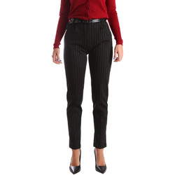 textil Dam Chinos / Carrot jeans Fracomina FR19FP619 Svart