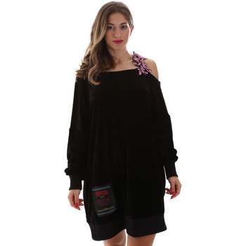 textil Dam Korta klänningar Versace B6HUB77011684899 Svart
