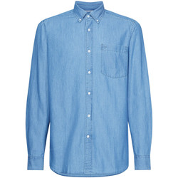 textil Herr Långärmade skjortor Calvin Klein Jeans K10K105288 Blå