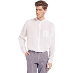 textil Herr Långärmade skjortor Gaudi 011BU45001 Vit