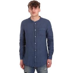 textil Herr Långärmade skjortor Gaudi 011BU45001 Blå