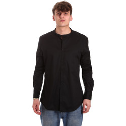textil Herr Långärmade skjortor Gaudi 011BU45013 Svart