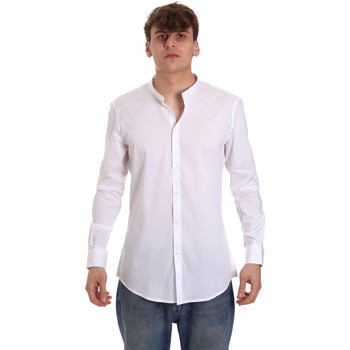 textil Herr Långärmade skjortor Gaudi 011BU45013 Vit