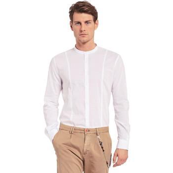 textil Herr Långärmade skjortor Gaudi 011BU45031 Vit