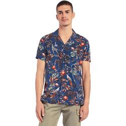 textil Herr Kortärmade skjortor Gaudi 011BU45047 Blå