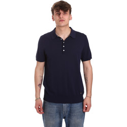textil Herr Kortärmade pikétröjor Gaudi 011BU53011 Blå