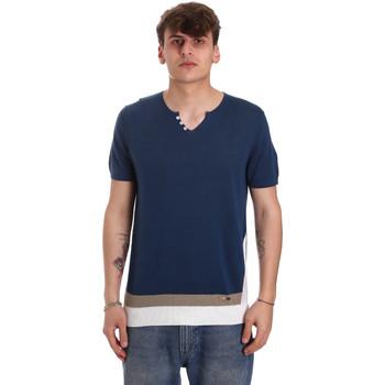 textil Herr T-shirts Gaudi 011BU53021 Blå