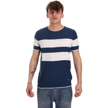 textil Herr T-shirts Gaudi 011BU53023 Blå