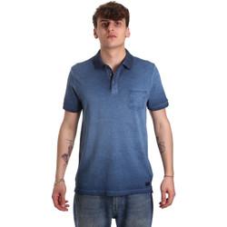 textil Herr Kortärmade pikétröjor Gaudi 011BU64017 Blå