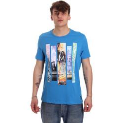 textil Herr T-shirts Gaudi 011BU64028 Blå