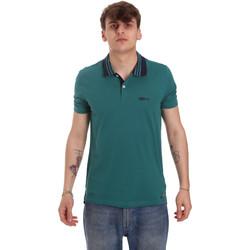 textil Herr Kortärmade pikétröjor Gaudi 011BU64044 Grön