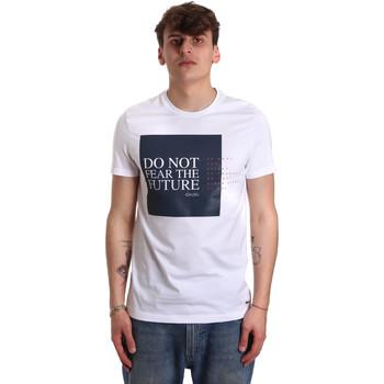 textil Herr T-shirts Gaudi 011BU64067 Vit