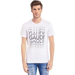 textil Herr T-shirts Gaudi 011BU64068 Vit