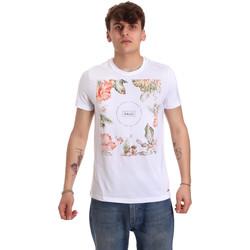 textil Herr T-shirts Gaudi 011BU64070 Vit