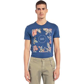 textil Herr T-shirts Gaudi 011BU64070 Blå