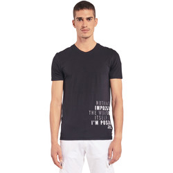 textil Herr T-shirts Gaudi 011BU64071 Svart