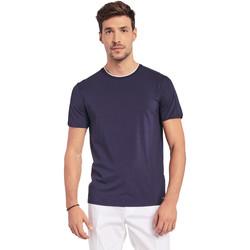 textil Herr T-shirts Gaudi 011BU64087 Blå