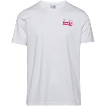 textil Herr T-shirts Diadora 502175837 Vit